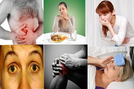 triệu chứng tổn thương gan